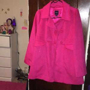 pink glittery coat